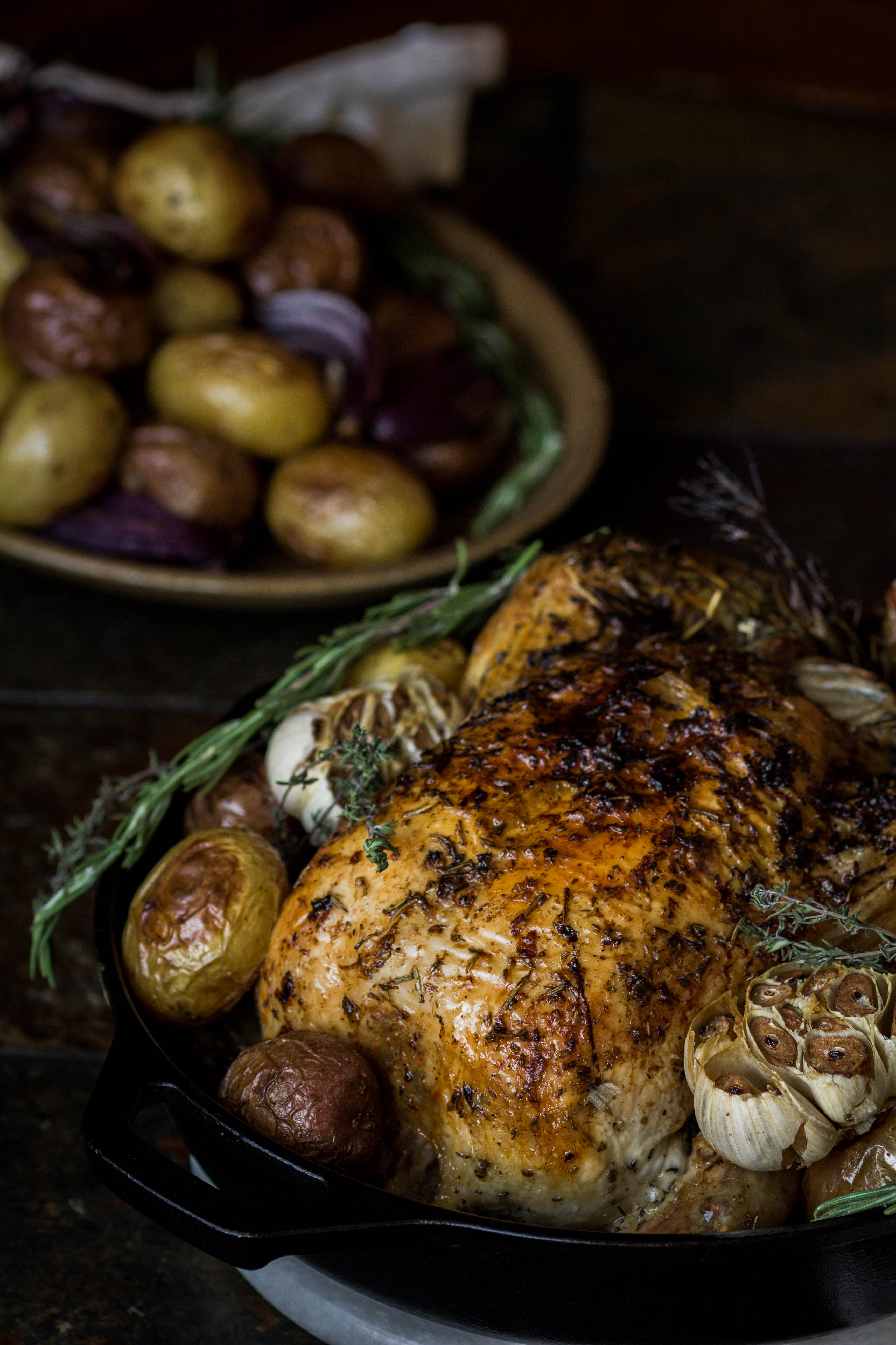 Roasted Chicken with Potatoes from Boiled Wheat Blog by Kristen McSorley, Bozeman Area Photographer