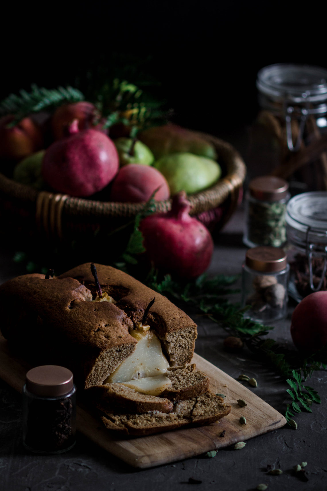 Poached Pear and Spice Loaf from Boiled Wheat Blog by Kristen McSorley Bozeman Montana Food Photographer