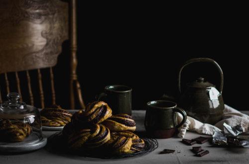 Pumpkin Spice and Chocolate Babka Buns from Boiled Wheat Blog by Kristen McSorley, Bozeman Montan Food Photographer
