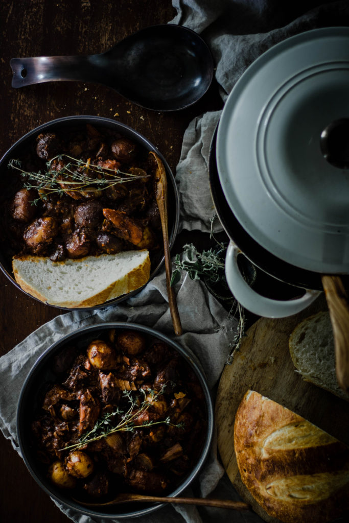 Beef Bourguignon from Boiled Wheat Blog by Kristen McSorley, Bozeman Montana Food Photographer