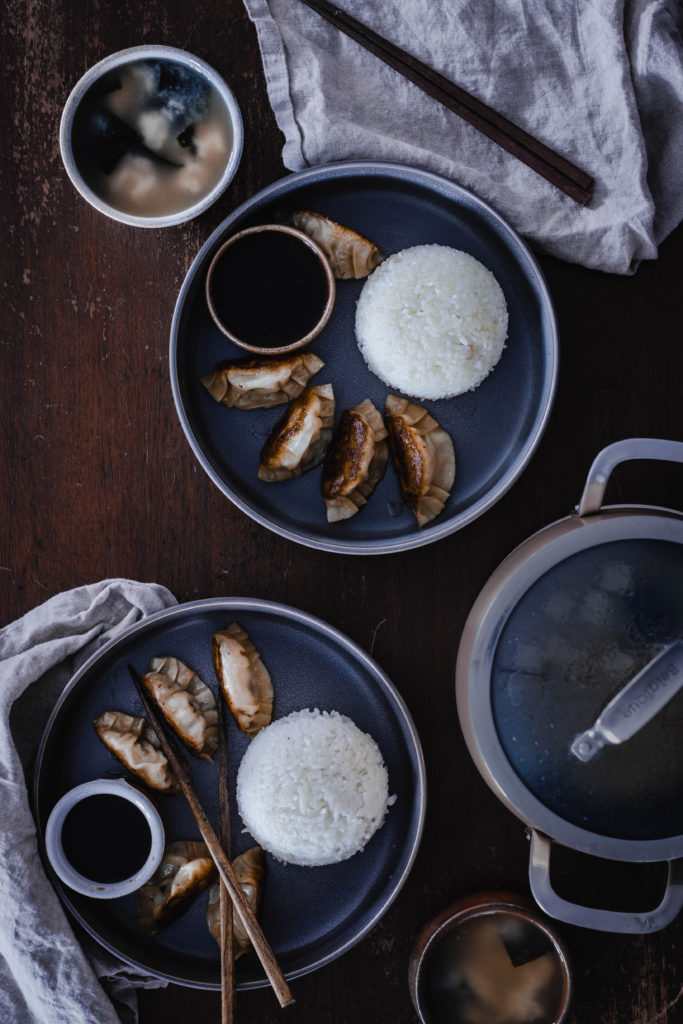 Japanese Gyoza for Meal Prep from Boiled Wheat Blog by Kristen McSorley, Bozeman Montana Food Photographer