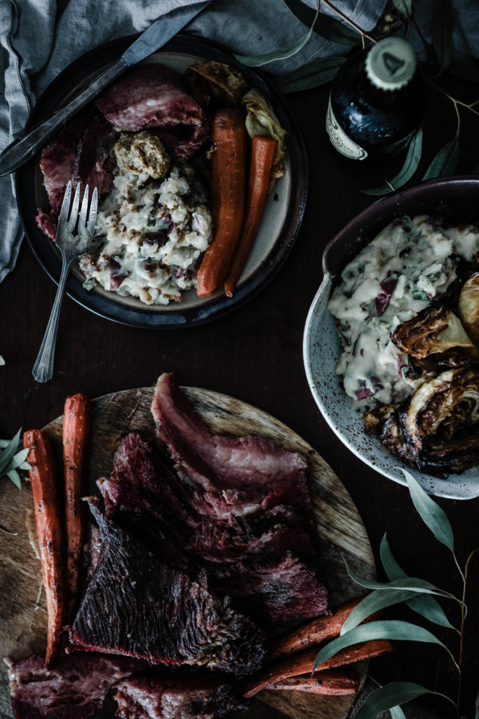 Corned Beef and Cabbage from Boiled Wheat Blog by Kristen McSorley, Montana Food Photographer