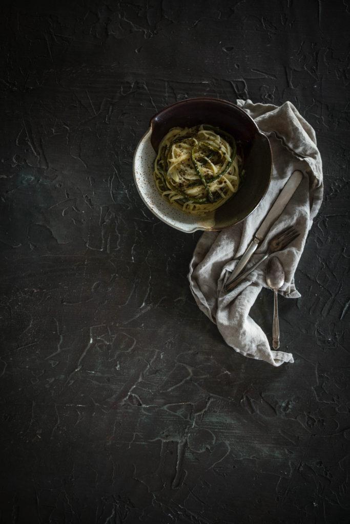Vegetarian Asparagus Carbonara from Boiled Wheat Blog by Kristen McSorley