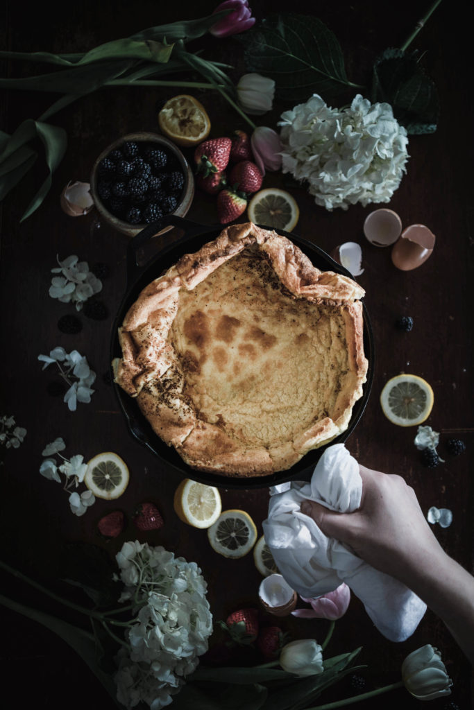 Savory Spring Dutch Baby from Boiled Wheat Blog by Kristen McSorley, Boiled Wheat Photography, Bozeman Montana