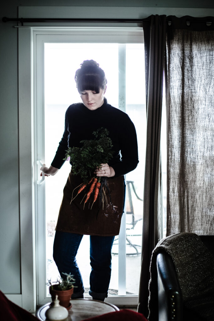 Winter Garden Carrots from Boiled Wheat Blog by Kristen McSorley